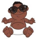 Bébé de nègre dans des lunettes de soleil illustration libre de droits