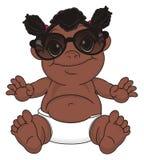 Bébé de nègre dans des lunettes de soleil illustration de vecteur