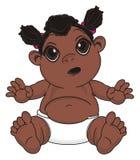 Bébé de nègre de surprise illustration libre de droits