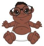 Bébé de nègre en verres illustration libre de droits