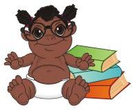 Bébé de nègre prêt à étudier illustration de vecteur
