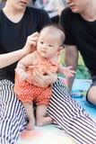 Bébé de parenting de mère et de père Image stock