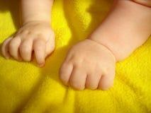 Bébé de poignée Images libres de droits