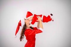 Bébé de Santa Claus et mère de Santa Claus Image libre de droits