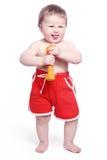 Bébé de sourire d'amusement Images libres de droits
