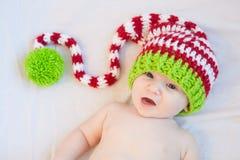 Bébé de sourire de vacances Image stock