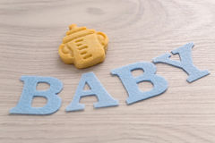 Bébé de Word coupé du feutre de bleu Image libre de droits