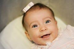 Bébé deux mois de sourire Photographie stock libre de droits