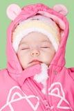 Bébé dormant et rêvant Photo stock