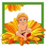 Bébé en fleur Photographie stock libre de droits