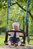 Bébé en parc Photos stock