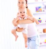 Bébé et sa mère Images libres de droits