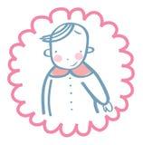 Bébé gai de Smilling Images libres de droits