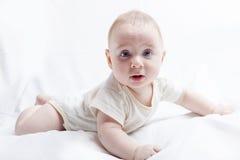 Bébé garçon étonné Image libre de droits