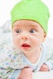 Bébé garçon au-dessus de blanc Photographie stock libre de droits