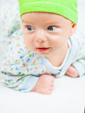 Bébé garçon au-dessus de blanc Image stock
