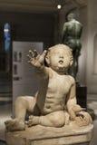 Bébé garçon avec l'oie égyptienne du musée d'Ephesos, Vienne, Autriche Photographie stock libre de droits