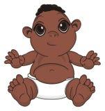 Bébé garçon de nègre illustration stock