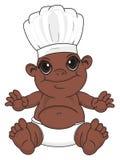Bébé garçon de nègre dans le chapeau blanc illustration libre de droits