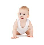 Bébé garçon de rampement Photos stock