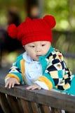 Bébé garçon en parc Photos stock