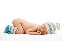 Bébé garçon nouveau-né endormi photos libres de droits