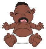 Bébé garçon pleurant de nègre illustration stock