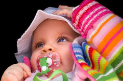 Bébé heureux image stock