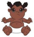 Bébé heureux de nègre de l'ONU illustration libre de droits
