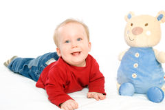 Bébé jouant avec des jouets Image libre de droits
