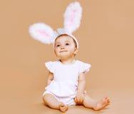 Bébé mignon doux dans le costume Image libre de droits