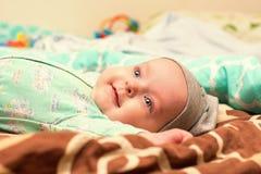 Bébé 4 mois de sourire Image stock