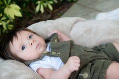 Bébé nerveux Images stock