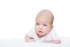 Bébé nouveau-né âge de sept semaines Photos libres de droits
