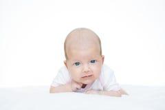 Bébé nouveau-né âge de sept semaines Photo libre de droits