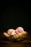 Bébé nouveau-né dans la cuvette image libre de droits