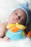 Bébé nouveau-né de mâle de foyer sélectif de détails Photographie stock libre de droits
