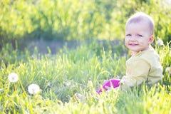 Bébé onze mois de mois Photo stock
