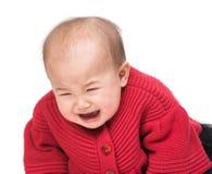 Bébé pleurant image stock