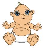 Bébé sans émotion illustration stock