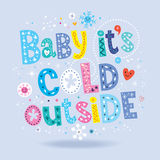 Bébé son extérieur froid Photographie stock