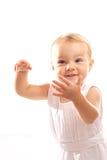 Bébé sur le fond blanc Photos stock