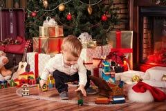 Bébé sur Noël Photos libres de droits