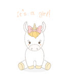 Bébé Unicorn Girl Image stock