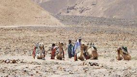 Bédouins dans le camp image stock