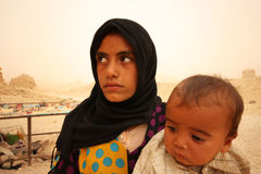Bédouins en Syrie Images stock