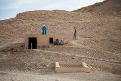 Bédouins en vallée des rois image libre de droits