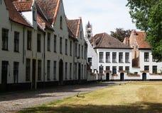Béguinage à Bruges photographie stock libre de droits