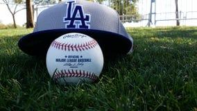 Béisbol de Dodgers Foto de archivo libre de regalías