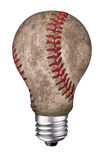 Béisbol de la bombilla Imagenes de archivo
